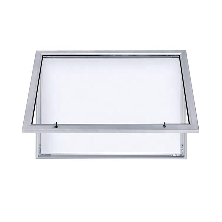 Outdoor acrylic door display enclosed magnetic whiteboard bulletin board lockable notice board