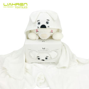 Soft Organic Bamboo 500gsm Dog Hooded Towel Baby Bamboo Bath Towel