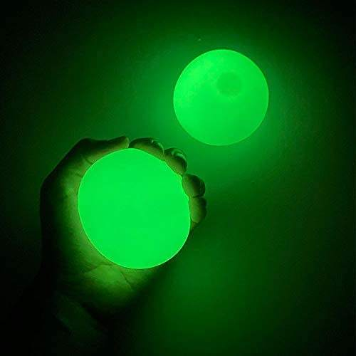 Luminescent Stress Relief Balls Sticky Ball, Stick to The Wall Slowly Fall Off, Squishy Glow in Stress Relief Toys for Kids