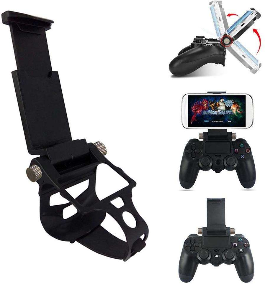 Portable foldable gamepad mobile phone clip gamepad clip mobile phone tool black adjustable angle