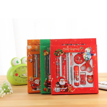 9 pcs student prize school supplies Christmas stationery gift box set