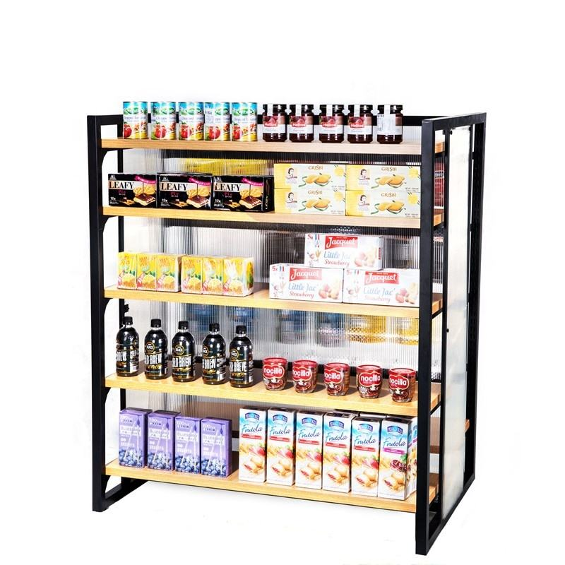 Best Products Shopping Display Rack Wood Plate Finished Fashionable Style Display Shelf