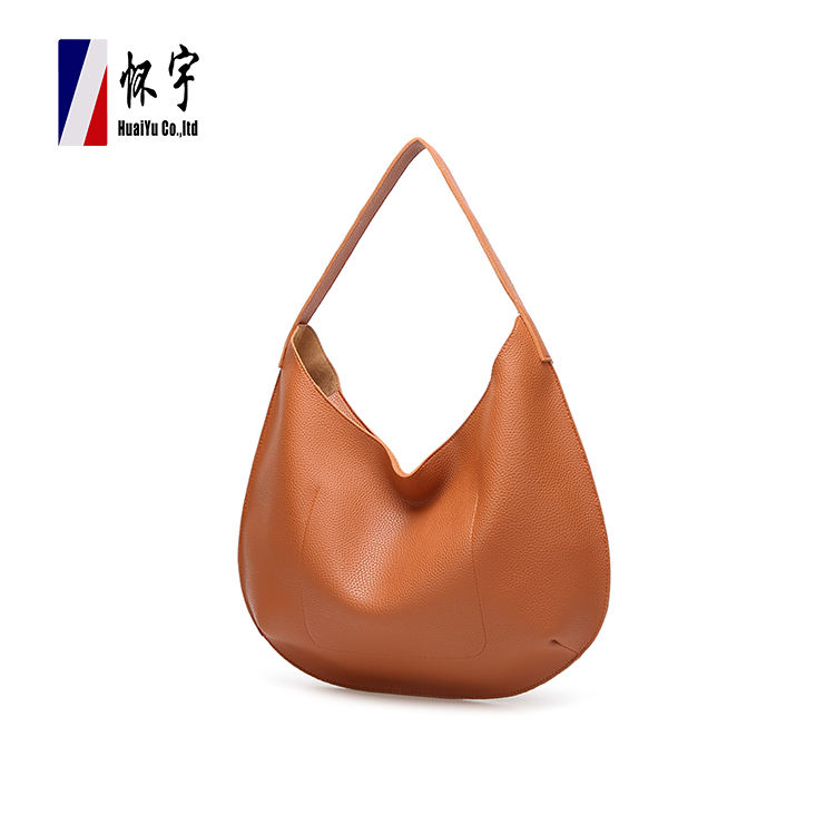 New Style Fashion Design Customized Brown Handle Handbag Female Hand Bag
