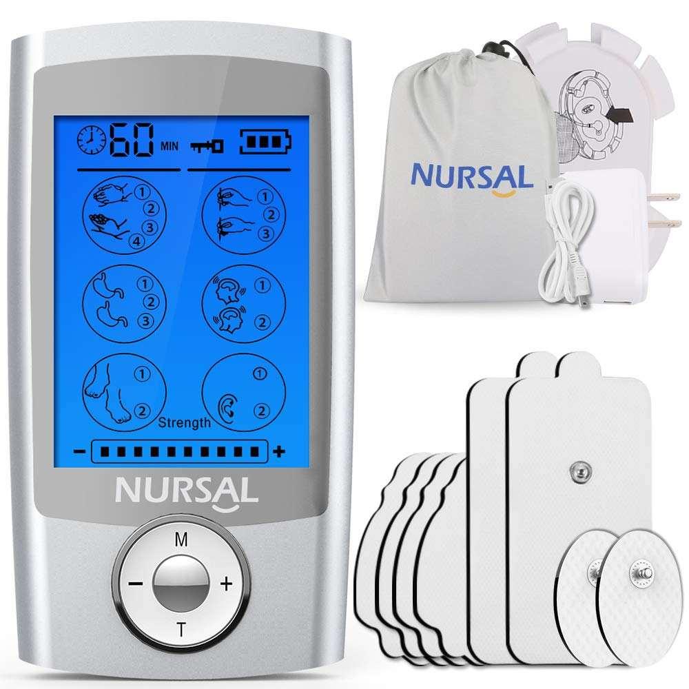 デュアルチャンネル機充電式 FDA Ems 十ユニット筋肉刺激 8 電極パッド