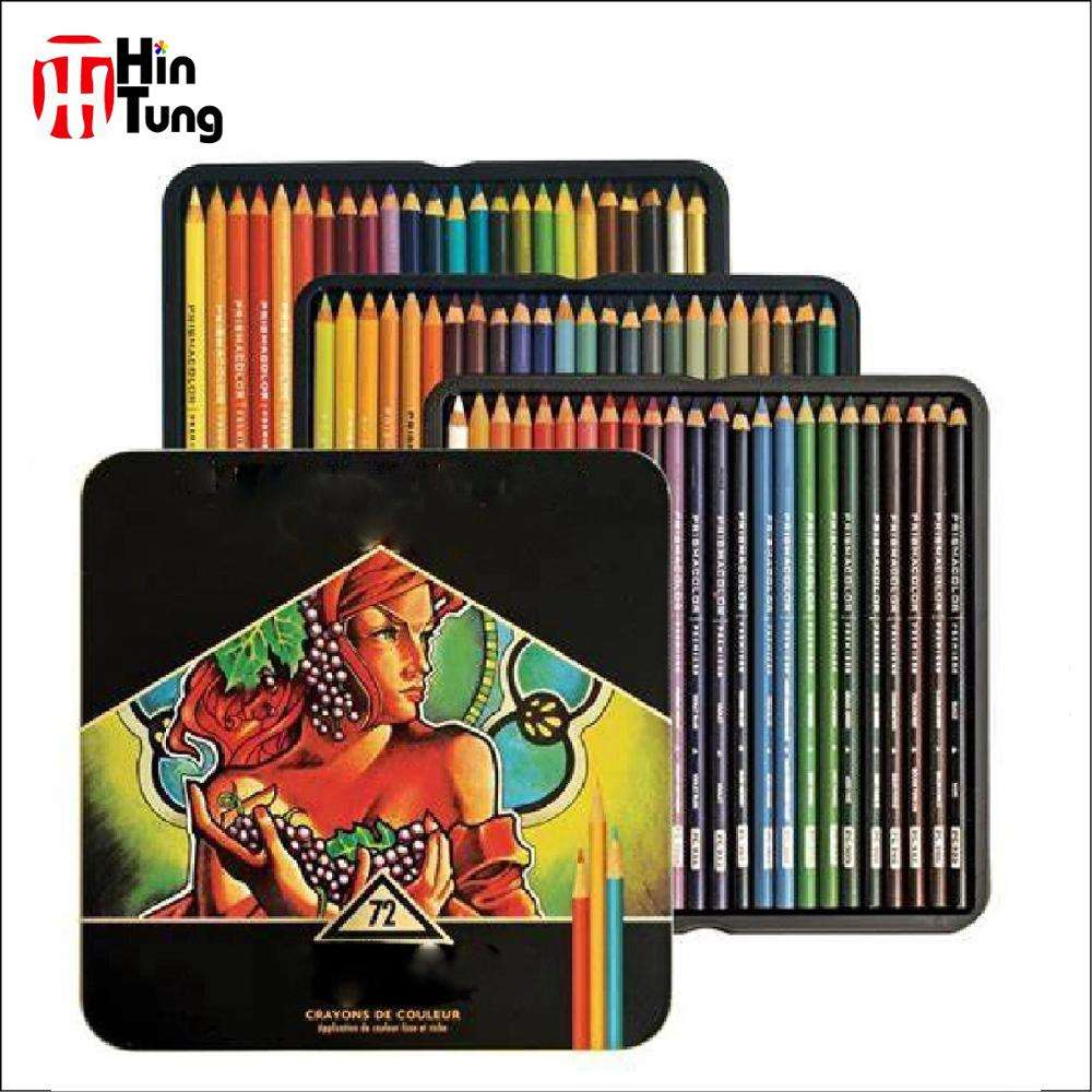 72pcs Tin Box Packed Prismacolor High Quality Color Pencil