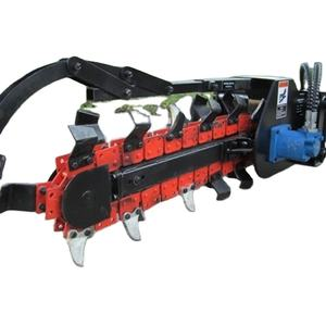 good quality long use time durable material Chinese factory digging disk trencher chain trencher loader attachment