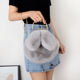 Sweet girls bags cute rabbit ears fur hand bag fashion chain shoulder messenger bag High Quality elegant handbags for women