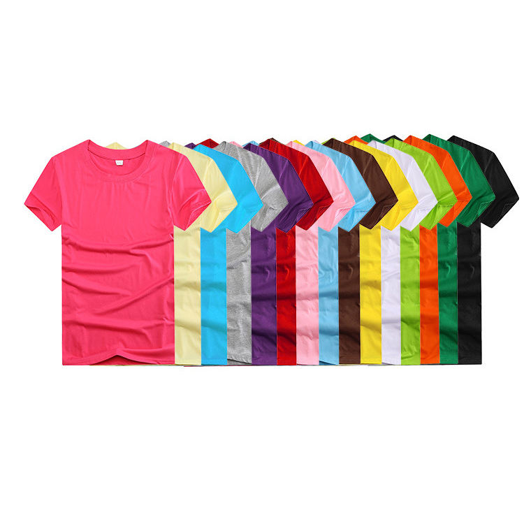 Wholesale 60% polyester 40%cotton o-neck 160g custom tshirts blank t shirts men