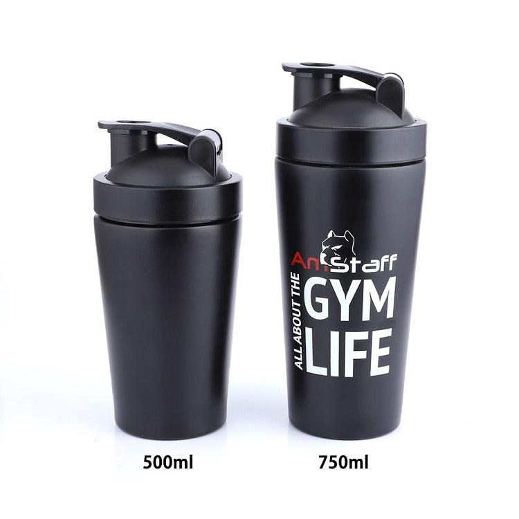 Hot Bpa Free Lid Stainless Steel Gym Water Protein Shaker Bottle