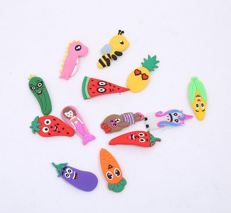 Yiwu fabrik kinder kinder cartoon einhorn meerjungfrau Sirena Meerjungfrau bee ananas mais frucht gummi haarspangen