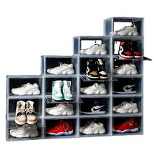Stackable Display Giant Clear Transparent Drop Front Acrylic Nike Basketball Plastic Storage Shoe Sneaker Box With Magnet