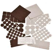 Premium Two Colors Pack felt Furniture Pads Floor Protectors 166 Pcs