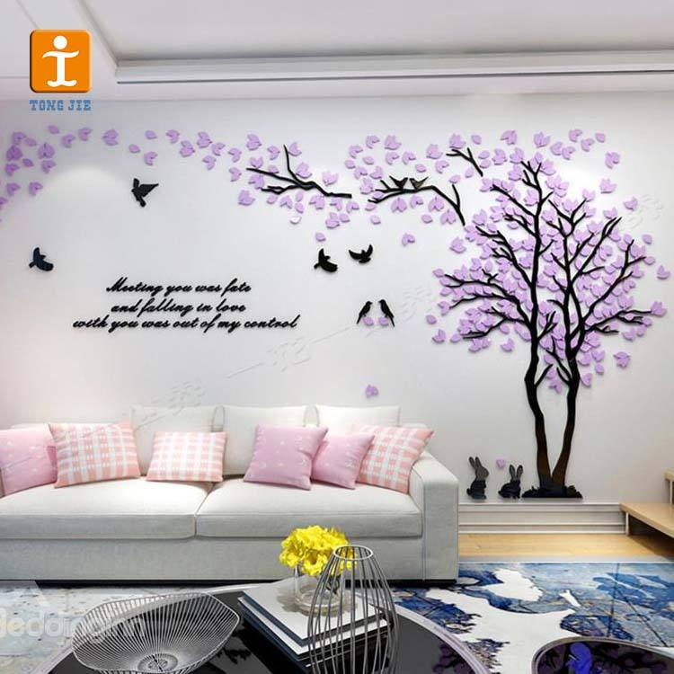 cheap custom Waterproof custom personalized transparent vinyl wall stickers manufacturer from factory