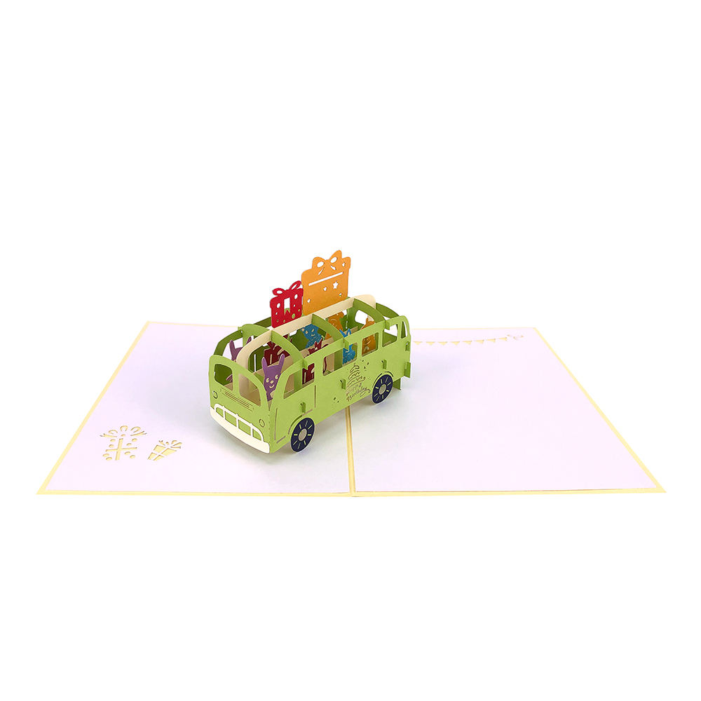 Personalized 3D Greetings Happy Birthday Pop Up Card With Giftbox Car