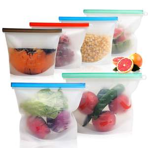 100% ecofriendly BPA free 1000ml stasher sandwich fresh freezer bags waterproof leakproof reusable silicone food storage bag