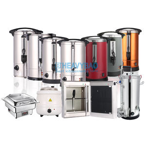 Heavybao Banquet Party Stainless Steel Warmer Heating Element Mulled Wine Water Boiler Tea Warming Urn