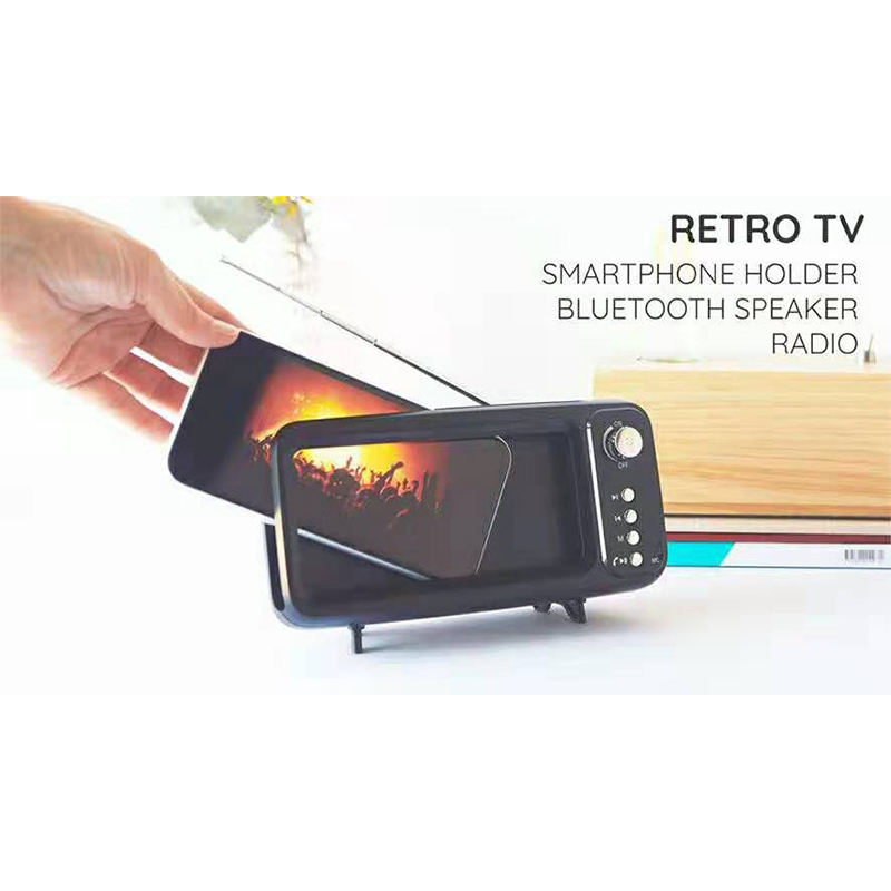 Samtronic 2019 nuovo altoparlante del bluetooth per il supporto del telefono, smart phone <span class=keywords><strong>TV</strong></span> del bluetooth per il bluetooth del telefono delle cellule del supporto del basamento Retro <span class=keywords><strong>TV</strong></span>