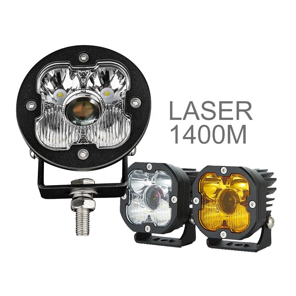 High Power 1400M Os ram super Bright Round 4x4 Truck Offroad Laser Led Driving Light,Motorcycle 3 inch 50w Laser Led Work Light
