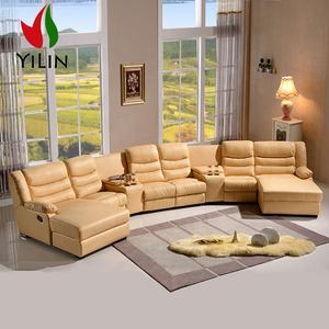Luxury design livingroom sectionals sofas big leather furniture large home theater used recliner chaise sofa