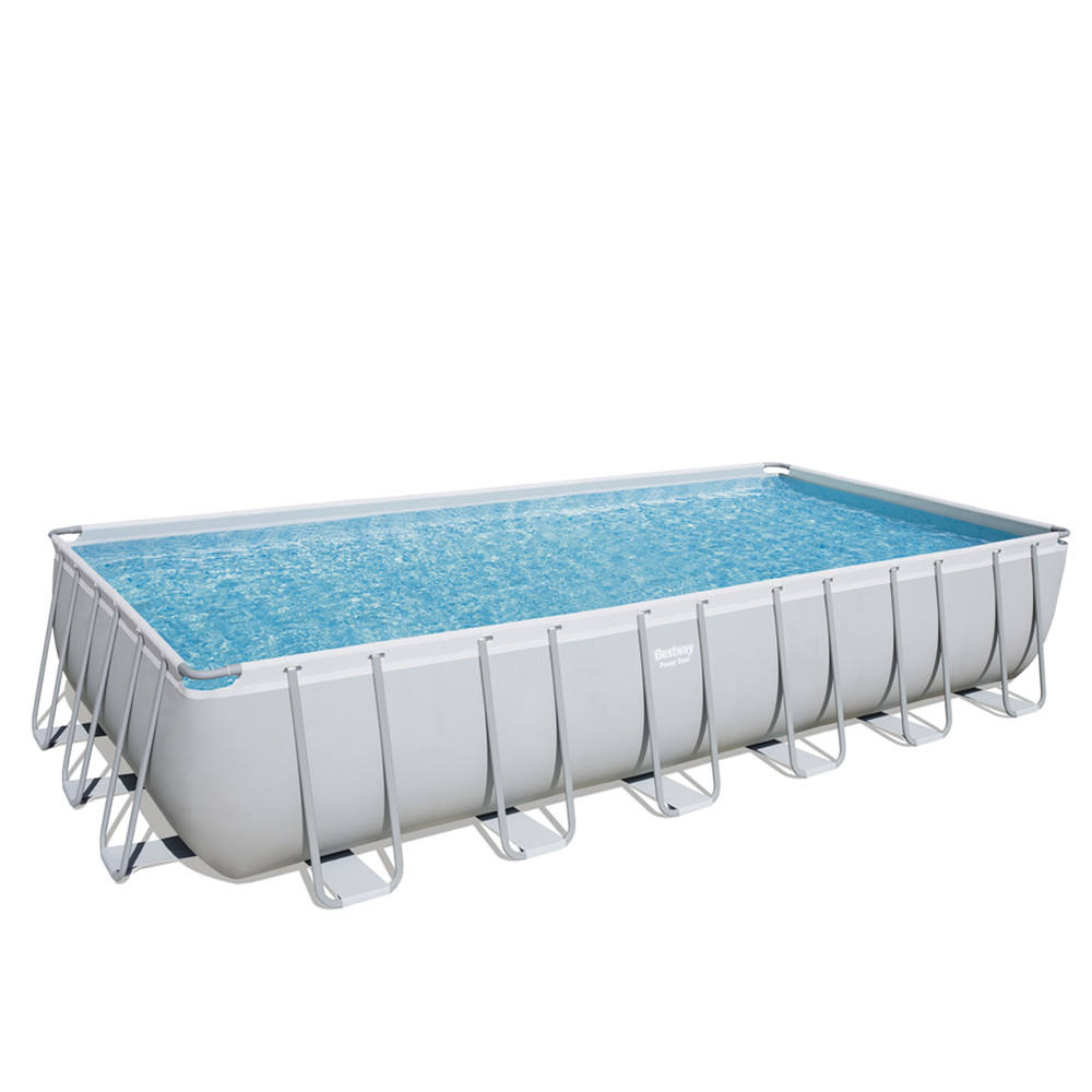 Bestway 56474 power steel rectangular plastic frame family lounge swimming pools products