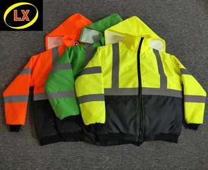 High Visibility Bomber Jacket Safety Reflective Wear