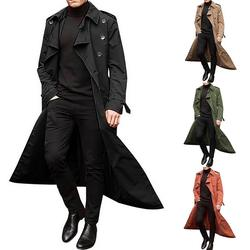 Trench Coat Men Jacket Men Overcoat Casual Slim Fit Windbrea