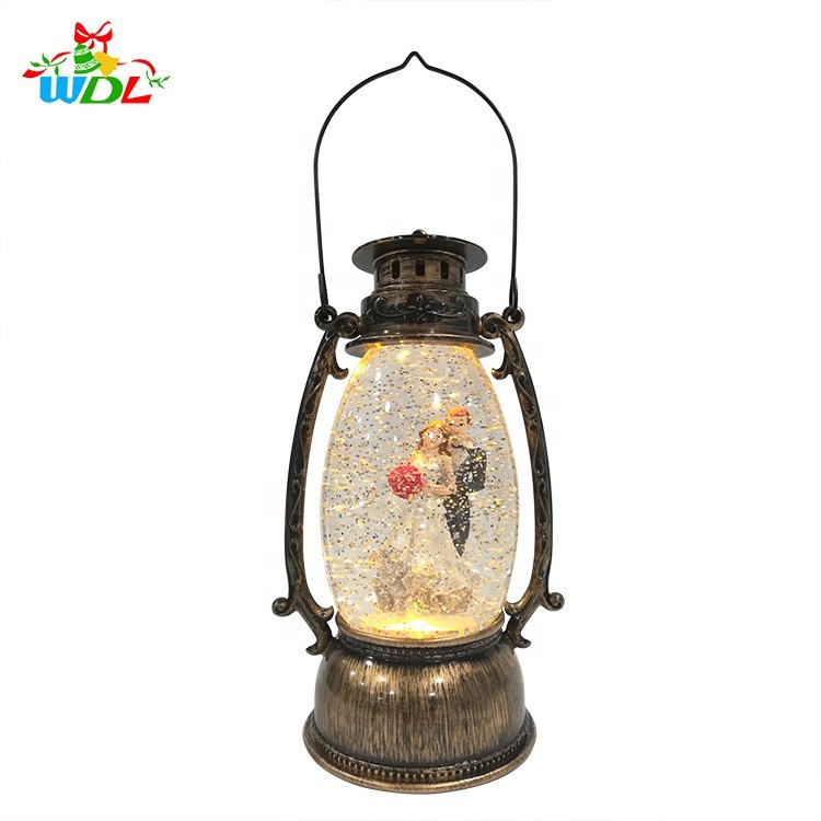 2020 New Design USB操作Led夜の光Water Snow Lantern For Navidad Decorations Christmas