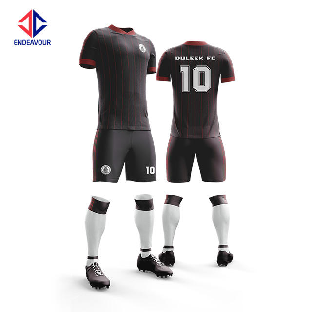 Wholesale custom logo new model sports 100% Polyester full sublimation soccer kits team wear personalized for mens