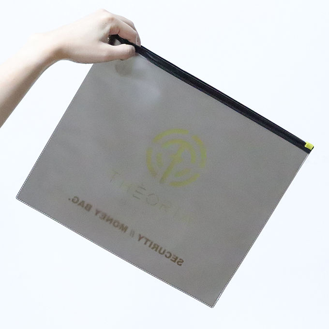 Custom large black matte version slider zipper bags for hoodies garment/clothing packaging plastic