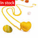 In stock 24k gold jewelry fashion heart necklace online shop china
