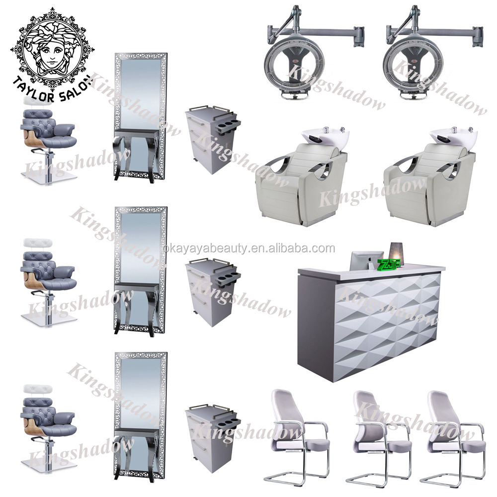 Durable beauty salon chair ladies salon equipment and furniture package for barber shop