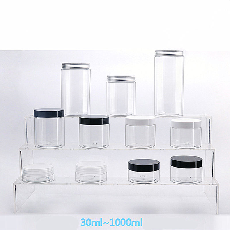 low profile 20ml 10g 3g 50 ml 16oz 40gm 150g 500ml cosmetic pp jar packaging cosmetic bo and jar 200 ml 15 g cosmetic jar white