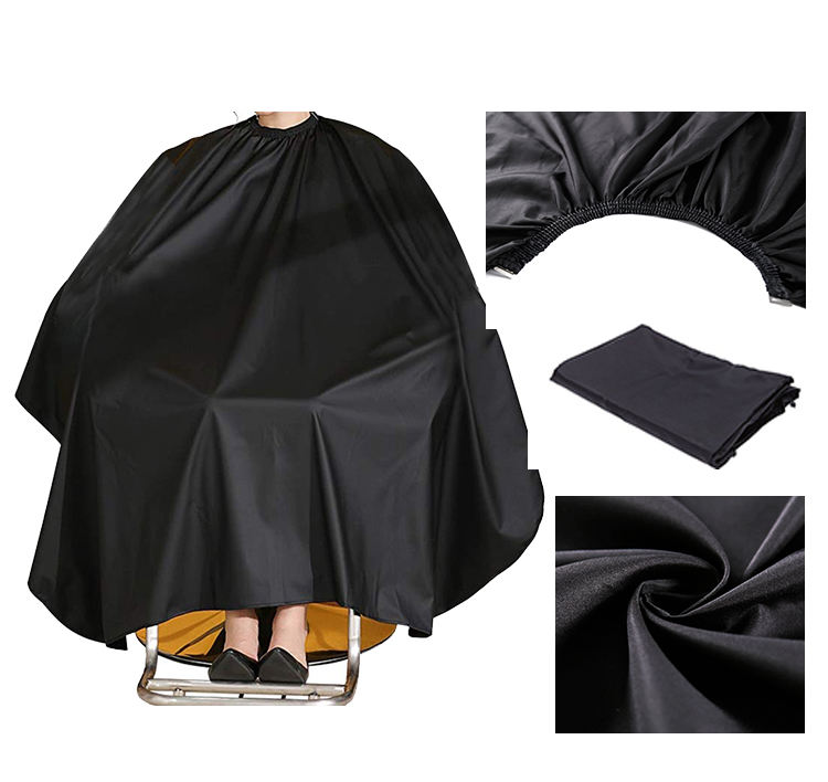 polyester water repellent eco-friendly anti-static barber cape with customized logo service for hairdressing cape salon cape