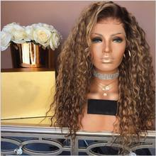 he31763a Wig wholesale high quality natural human hair Curly wigs for female