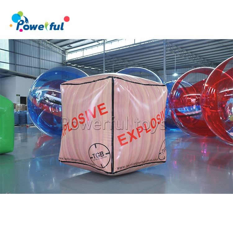MINI กล่องไม้รูปร่าง paintball Inflatable crate BUNKER