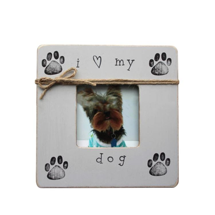 Lovely dog pet funny wood picture photo frame