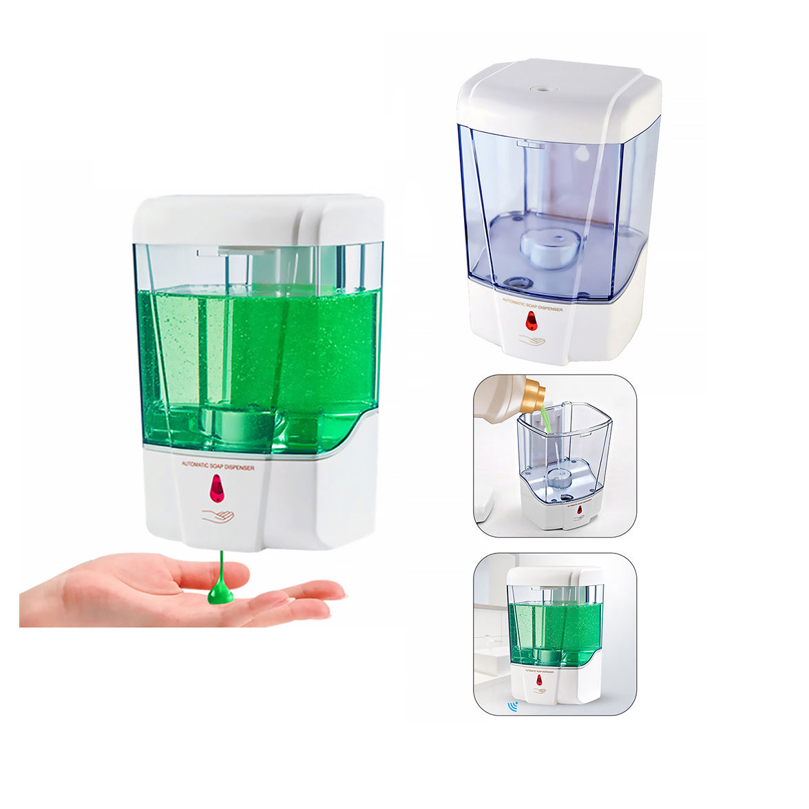 700ml Wall-Mount Automatic IR Sensor Touch Free Soap Dispenser Lotion Pump For Kitchen Bathroom Liquid Soap Dispenser