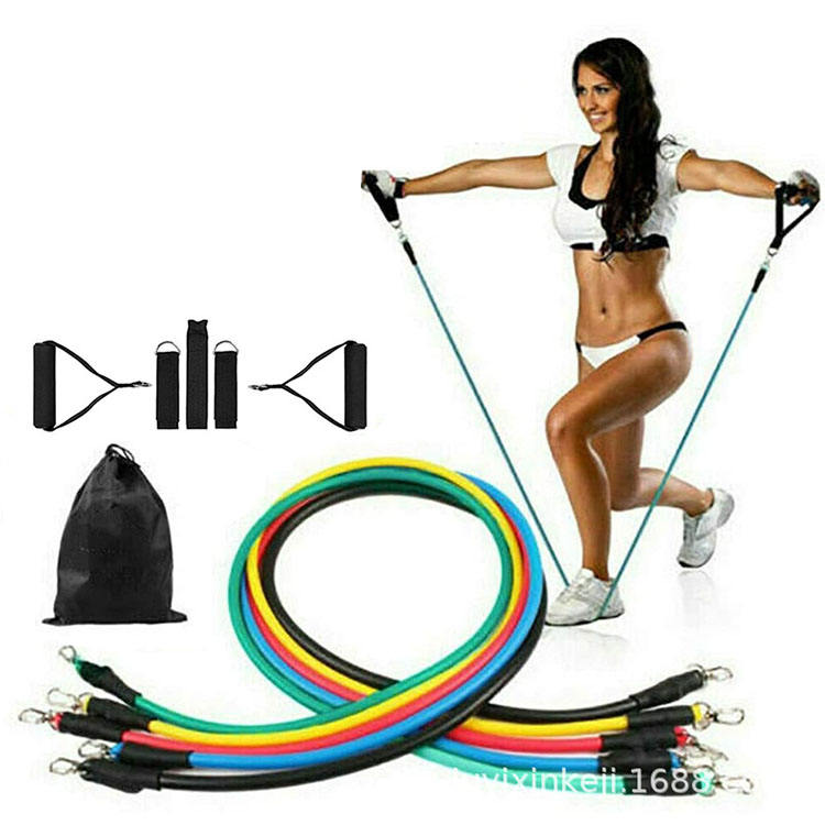 2020 Groothandel Amazon Hot Selling Pull Up Home Gym Apparatuur 11 Pcs Tpe Oefening Fitness Weerstand Bands Weerstand Buizen