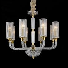 Explosions high glass crystal chandeliers for living rooms