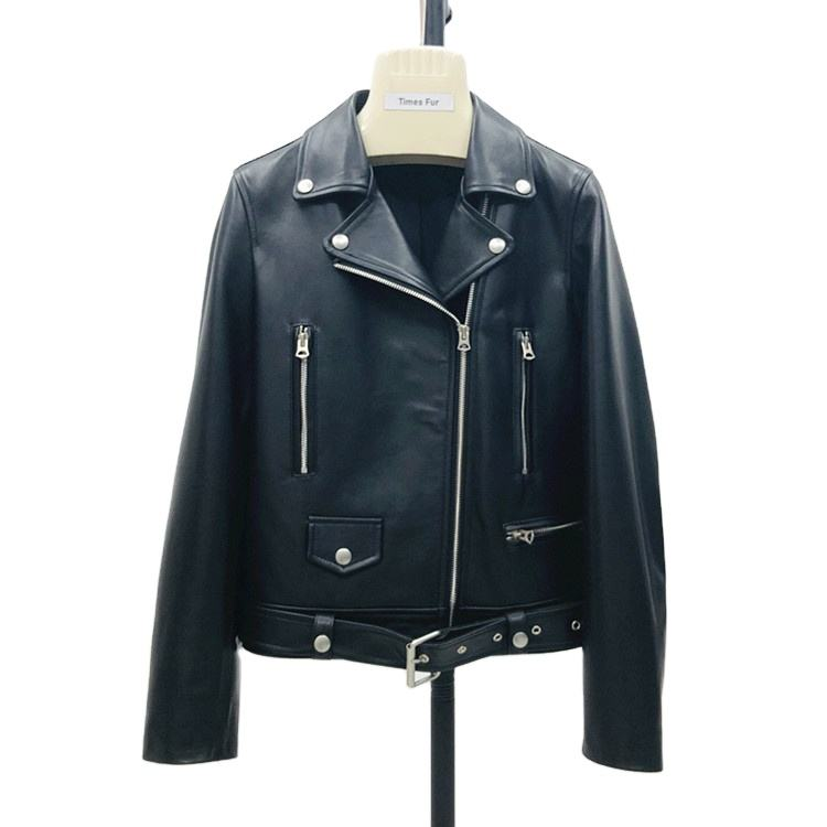 Cheap Factory Price Genuine Leather Jacket For Women Ladies For Autumn Winter Real Sheep Leather Clothes Motorcycle Jacket