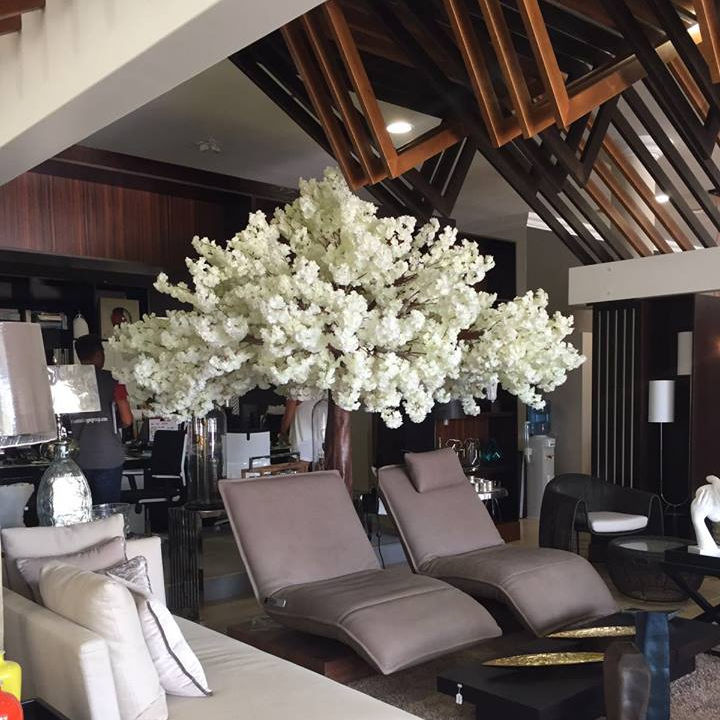 China Factory Wholesale fiberglass trunk Artificial wishing tree White Cherry Blossom Trees for Sale