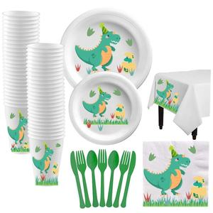 Dinosaur Birthday Theme Party Dinosaur Party Supplies Set Kids Dinosaur Tableware Kit Kids Birthday Party Baby Shower Tableware