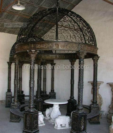 New Design Ornamental Decorative Wrought Iron gazebos
