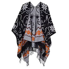 Wholesale promotional prices Guaranteed quality unique  Ladies tassel Shawls Scarf Winter Luxury blanket poncho Jacquard custom