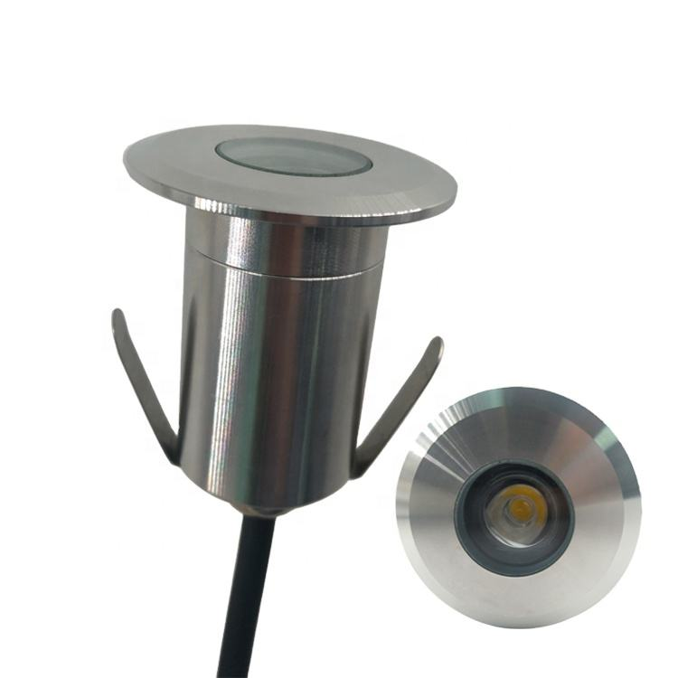 304 Stainless Steel Waterproof Single Color IP67 Underground LED 1W Power Spotlight for Floor
