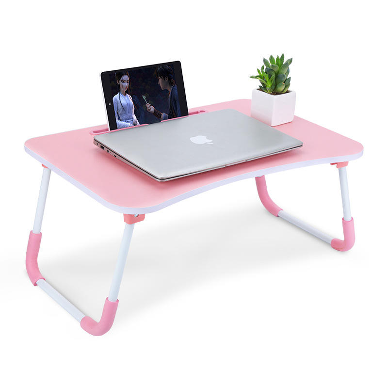 Wood Mdf Tablet Pc Computer Table Folded Laptop Desk Bedside Sofa Tray Lazy Laptop Stand