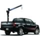 Crane 1 Ton Small Hydraulic Lifting Fold Arm Truck Crane For Car With Electric Car Winch