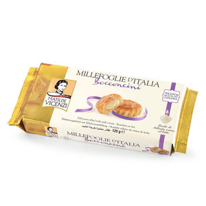 Italian Cookies Manufacturer BOCCONCINI Puff Pastry Filled With Milk Cream