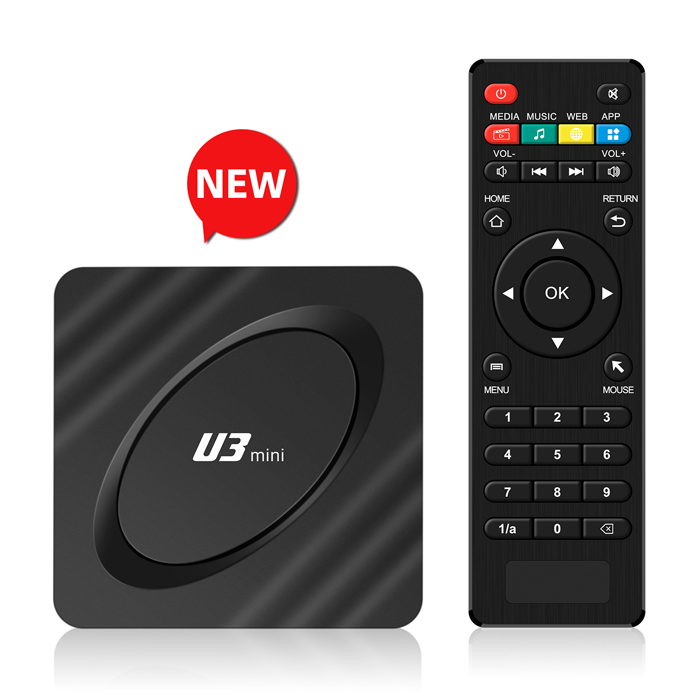 Latest Style Newest U3 U8 1G 8G 16G Android 9.0 10.0 4K 8K 1080P 5.0G WIFI BT 4.1 Blue color rk3228A set top box