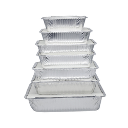 Takeout Lunch Tableware Container Square Aluminum Foil Baking Container